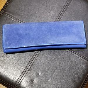 ALDO Royal Blue Suede & Patent Leather Clutch